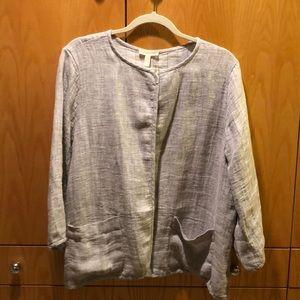 Eileen Fisher Linen Jacket !!